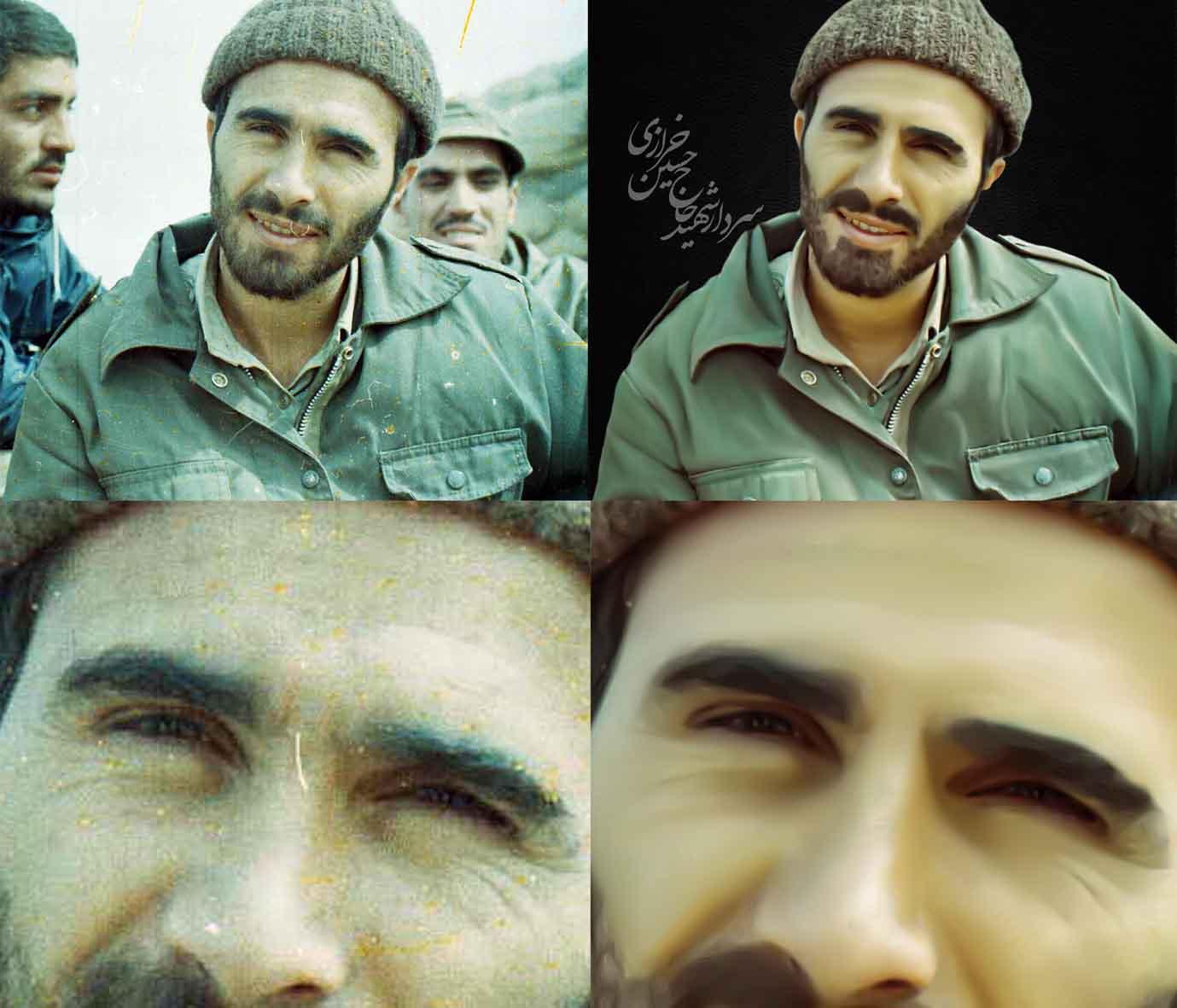 بازسازی تصویر شهید خرازی